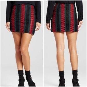NEW Harlequin Striped Lace Mini Skirt [C9]